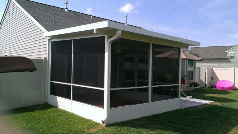 Screen Room Under Awnings