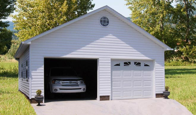 Storage buildings utility sheds bunce buildings for Garage ms auto