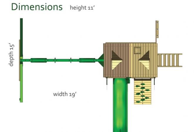 Horizon Playset Dimensions
