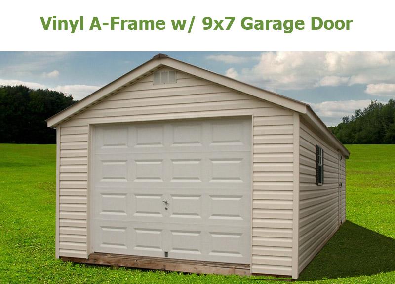 9x7 garage doorAFrame  Bunce Buildings