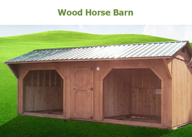 Wood Horse Barns Bunce Buildings