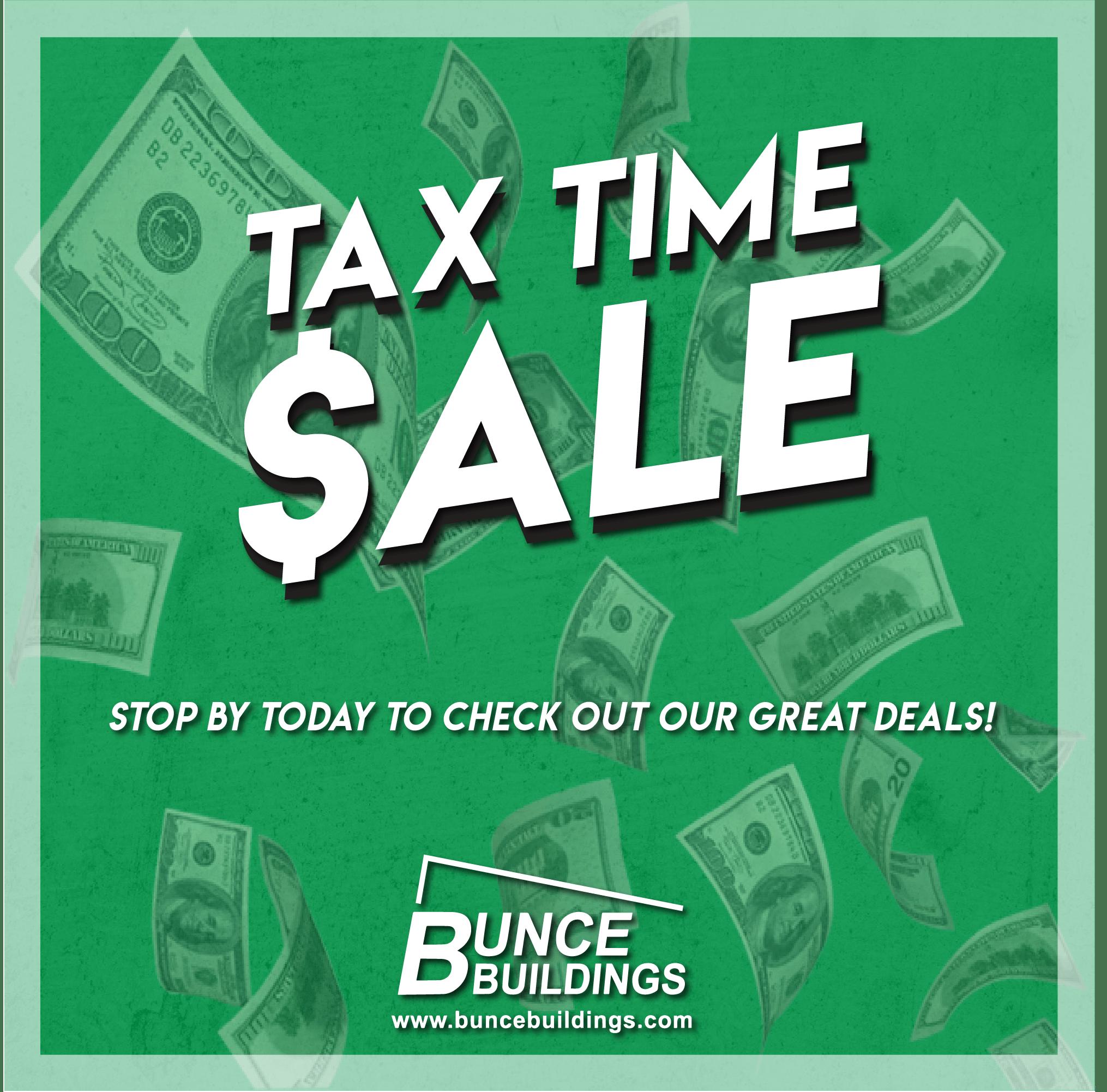 , Tax Time Sale!