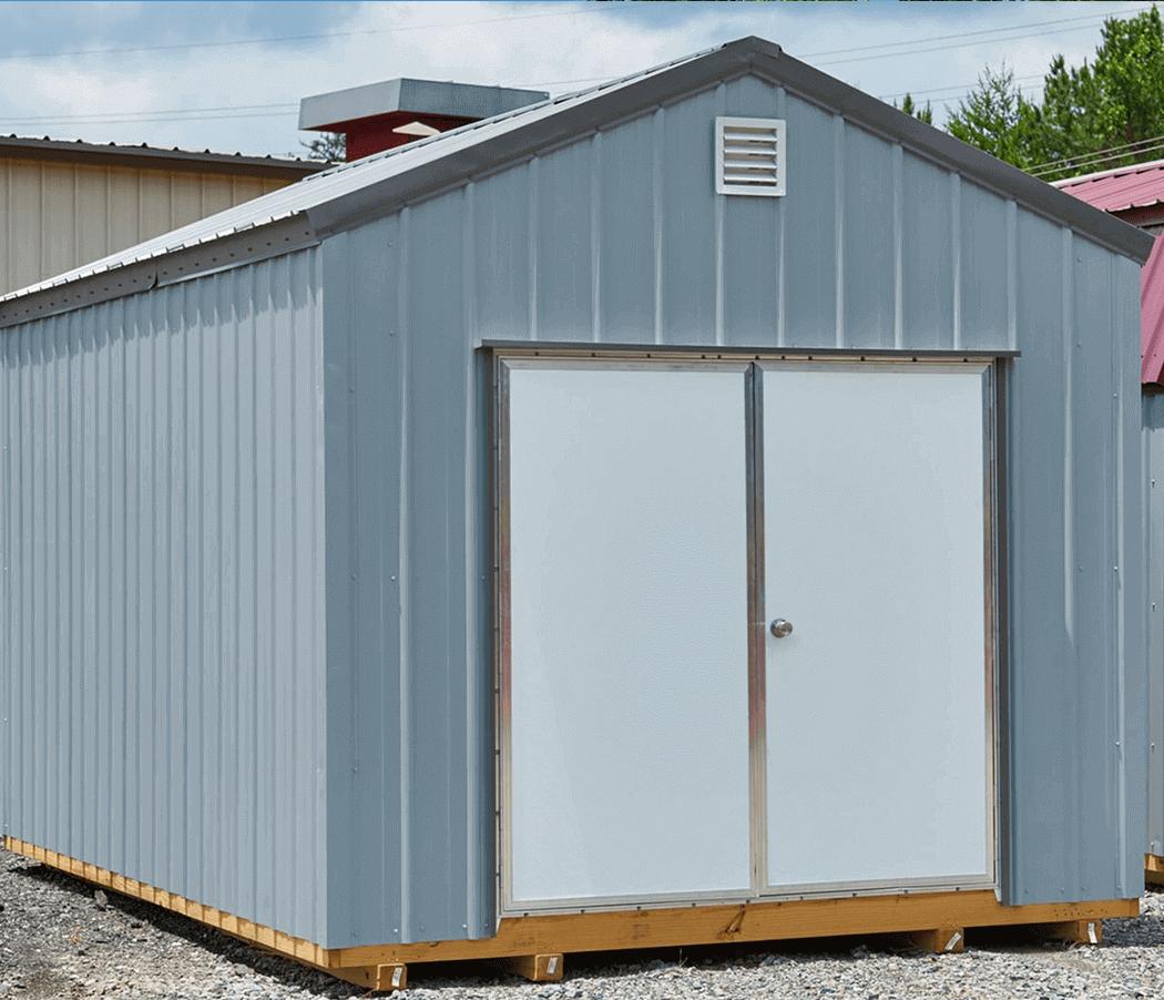 Metal a frame storage buildingv