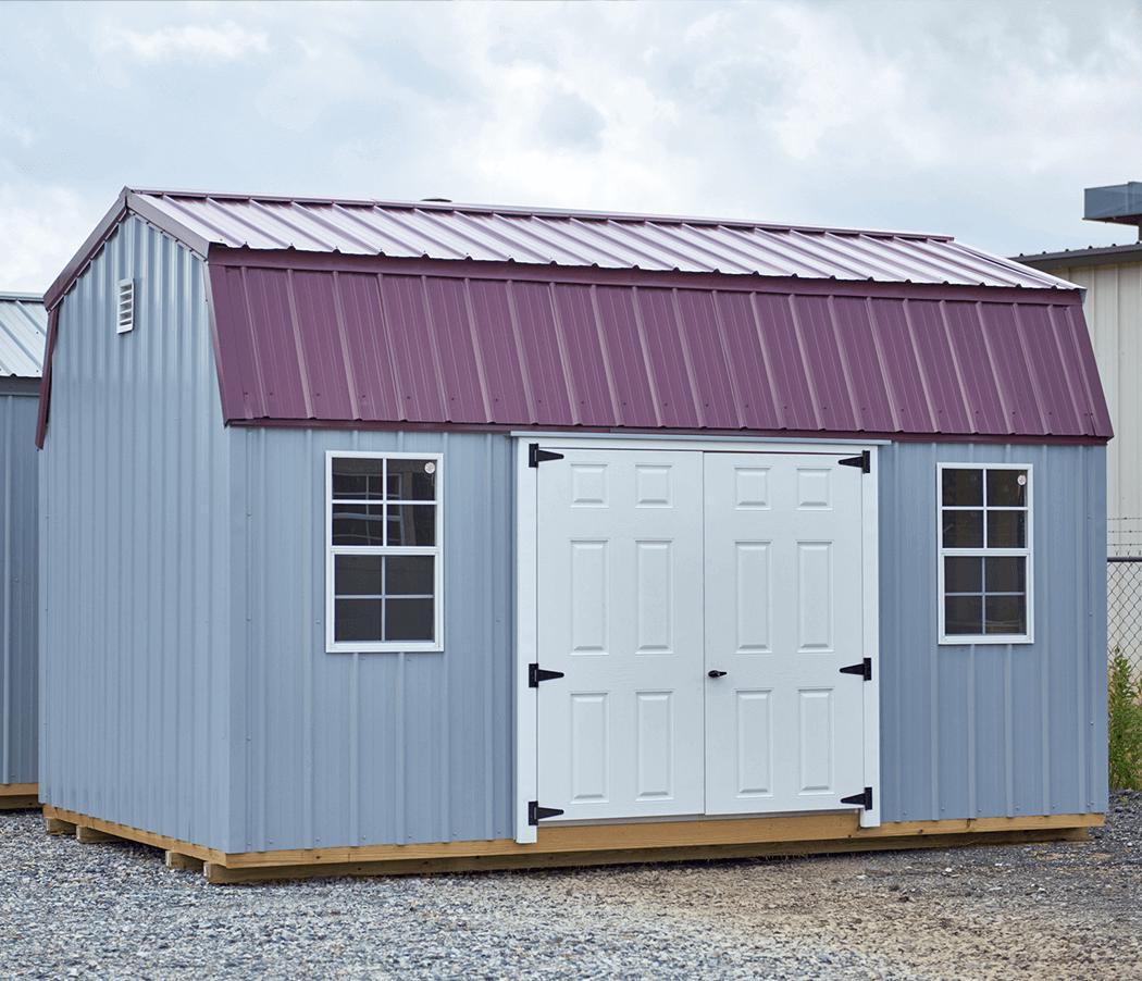 Metal amish storage building