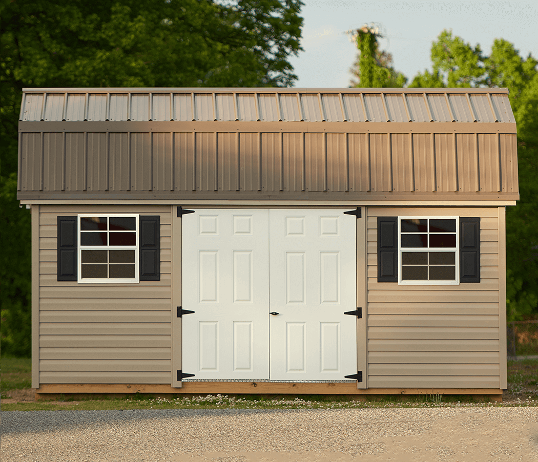 Vinyl storage building