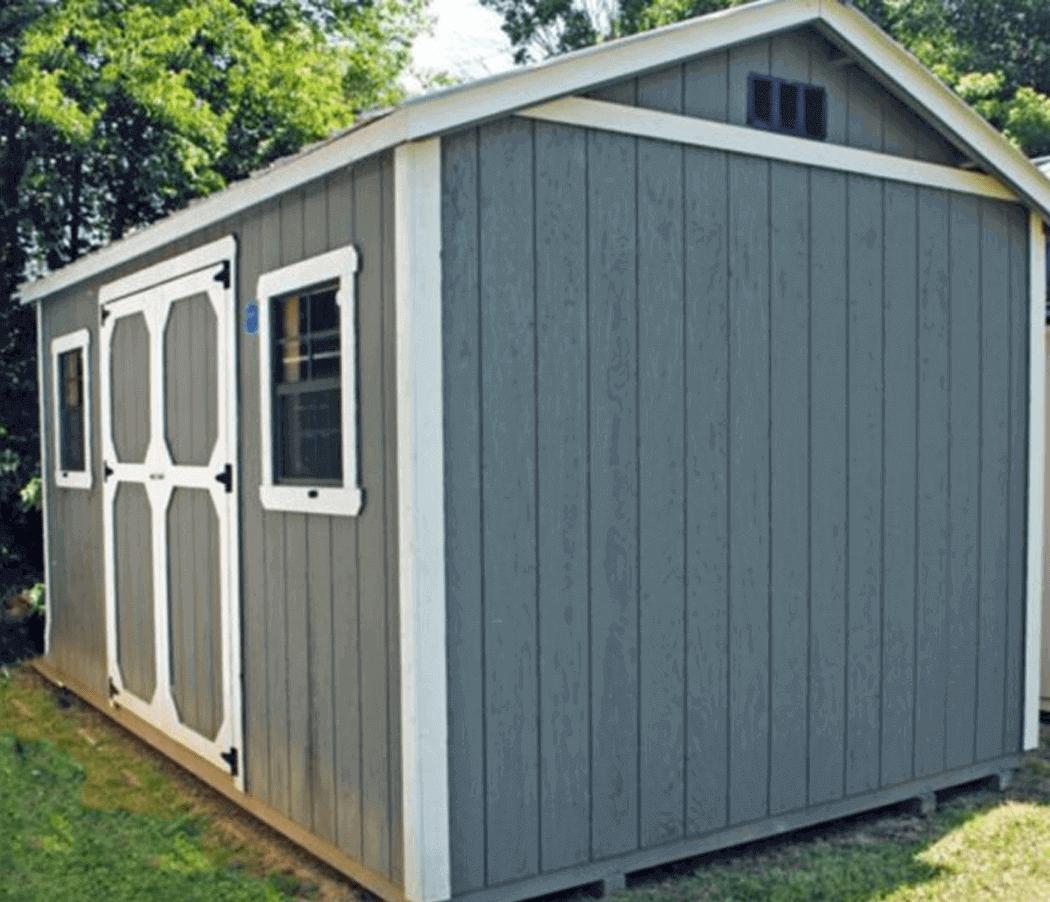 Wood A frame storage building