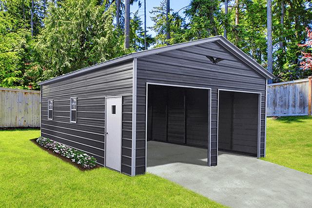 Double metal garage