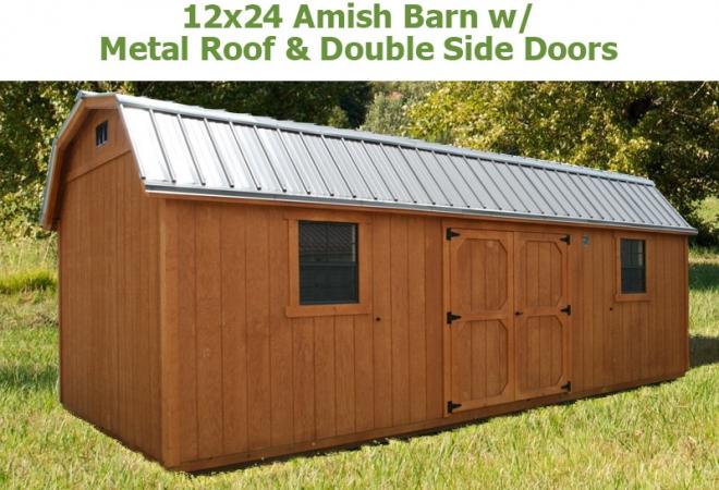 Steel Garages Amish : Amish barns bunce buildings