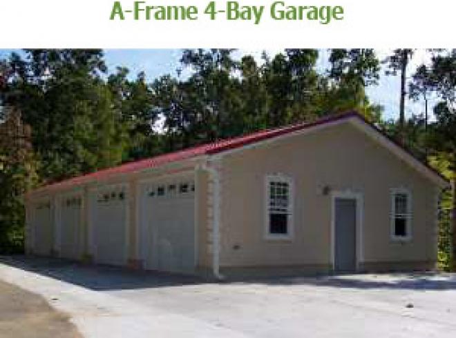 4 Bay Garage With Loft 62468dj: A-Frame 4-Bay Garages • Bunce Buildings